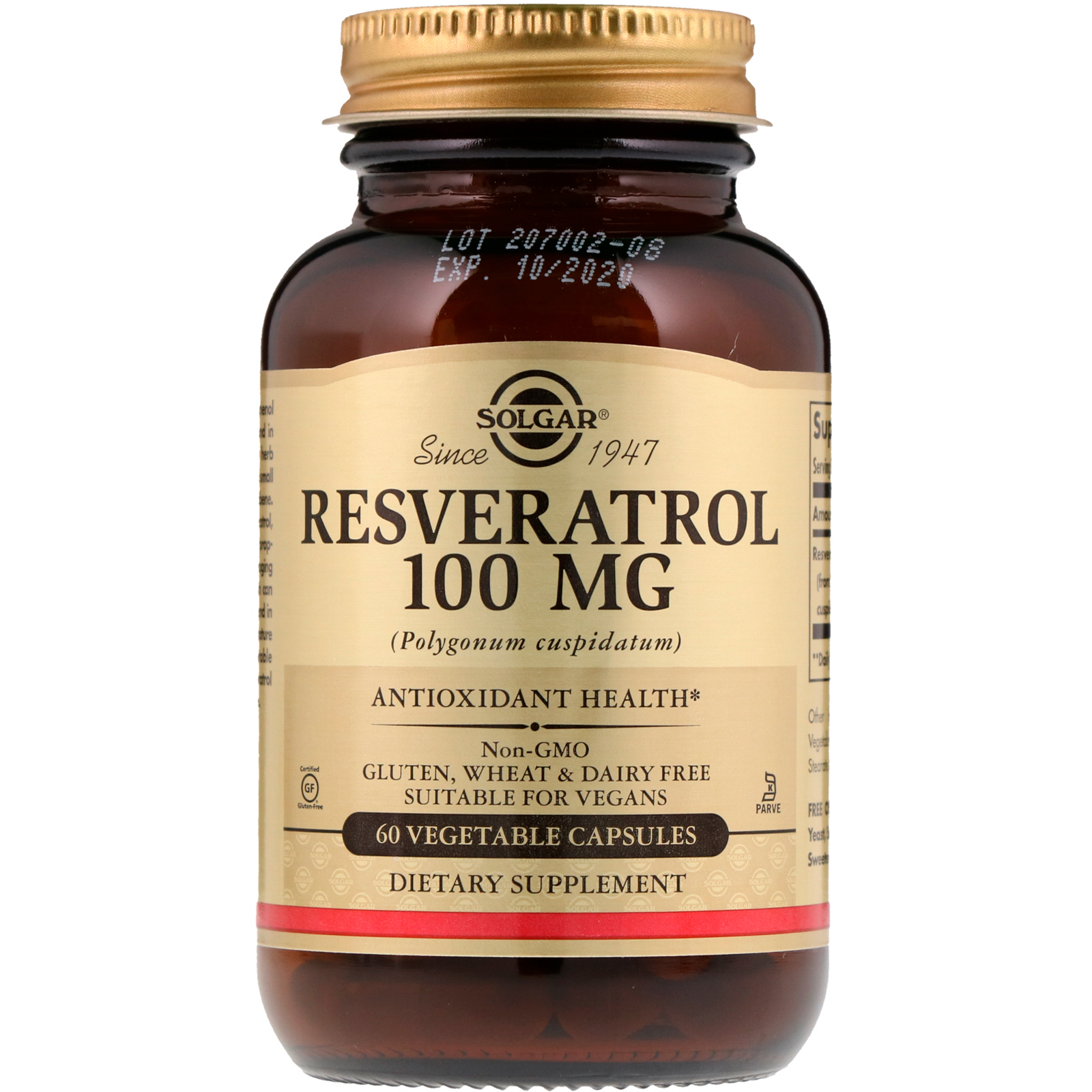 Resveratrol 100mg 60 Vegetable Capsules