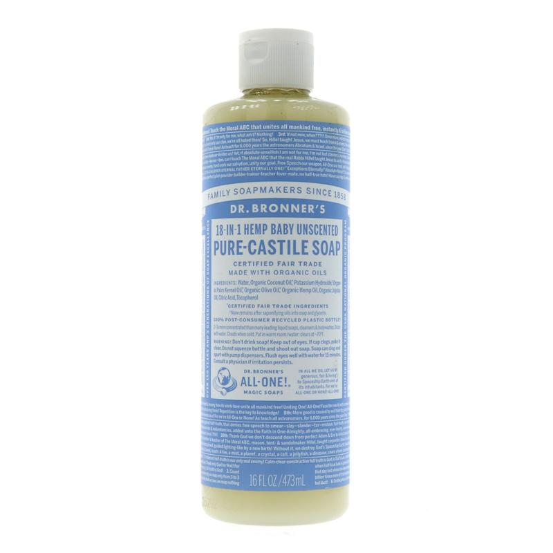 Dr Bronner's Baby Castile liquid Soap 237ml