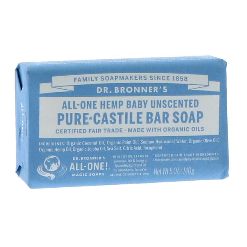 Dr Bronner's Baby Pure-Castile Bar Soap