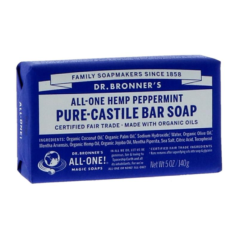 Dr Bronner's Peppermint Pure-Castile Bar Soap