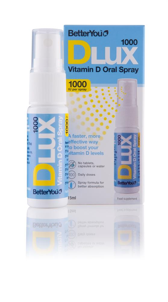 BetterYou DLux 1000 oral vitamin D3 spray 15ml