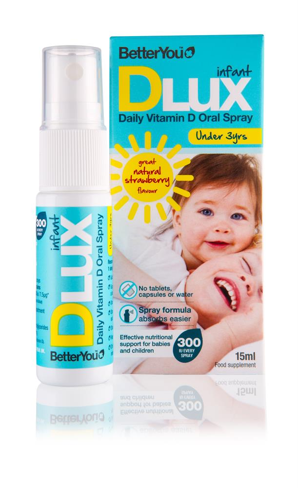 DLux Infant Vit D Oral Spray 15ml 400iu