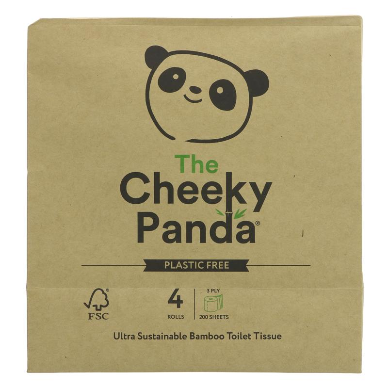 The Cheeky Panda Toilet Tissue 4 Pack