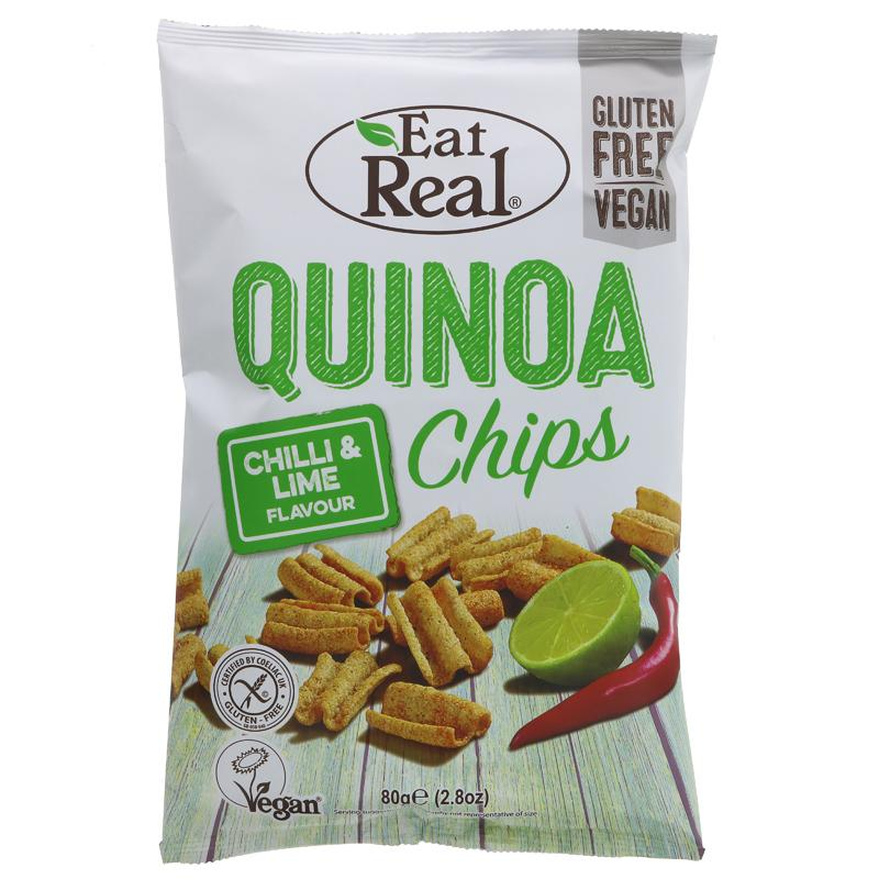Eat Real Quinoa Chips Chilli Lime