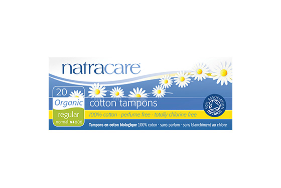 Natracare Regular Non-Applicator Organic Cotton Tampons 20