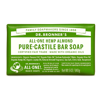 Dr Bronner's Hemp Green Tea Pure-Castile Bar Soap