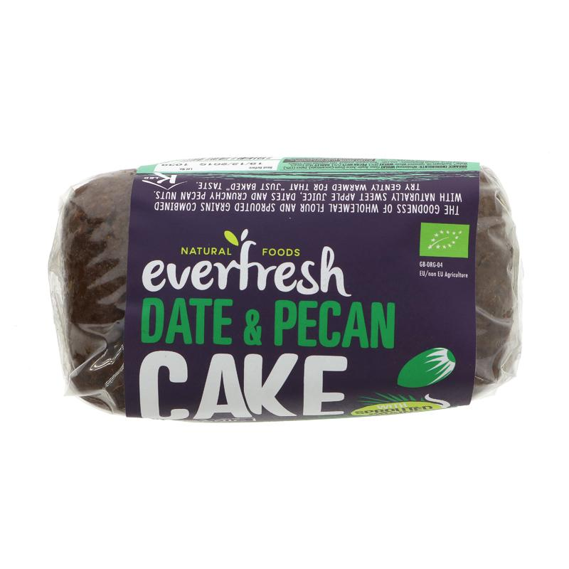 Everfresh Natural Foods Sprouted Date & Pecan Cake