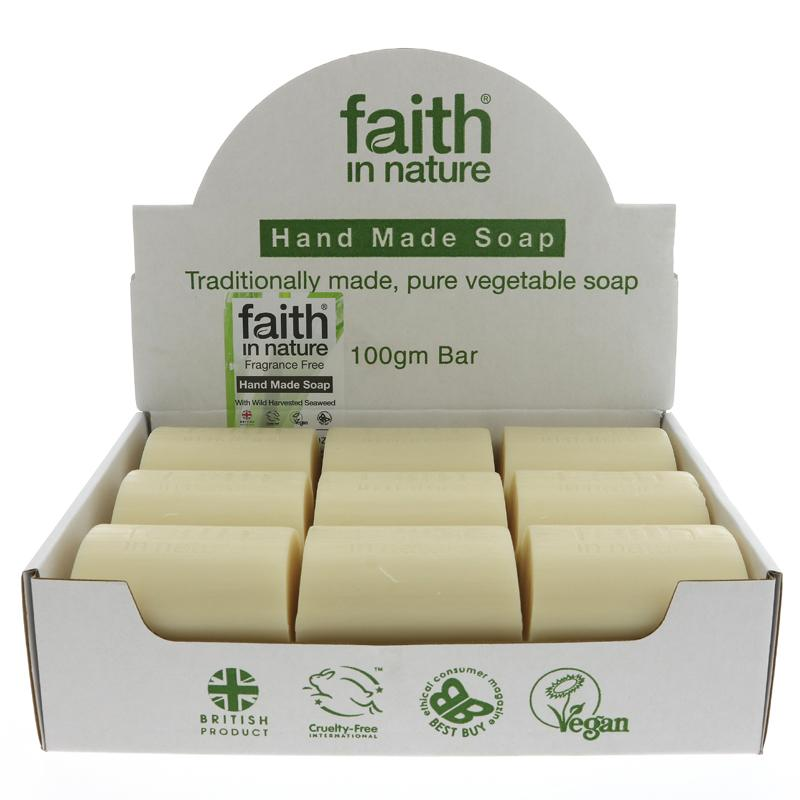 Faith In Nature Loose Soap Fragrance Free with Seaweed