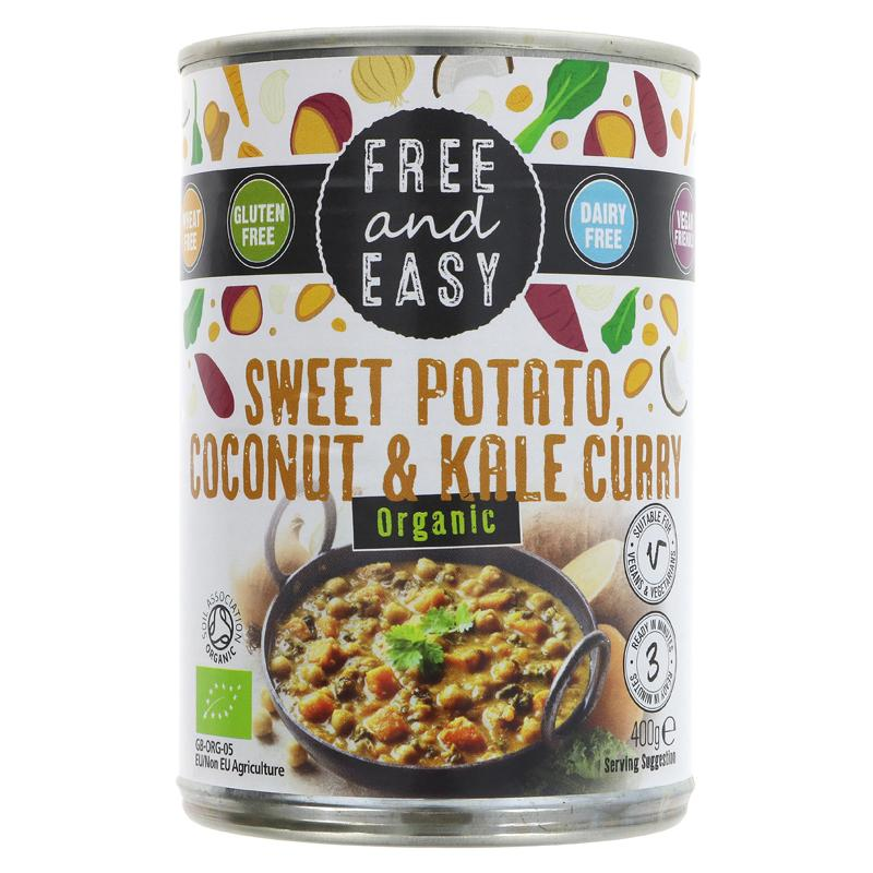 Free & Easy Sweet Pot, Kale & Coconut Curry