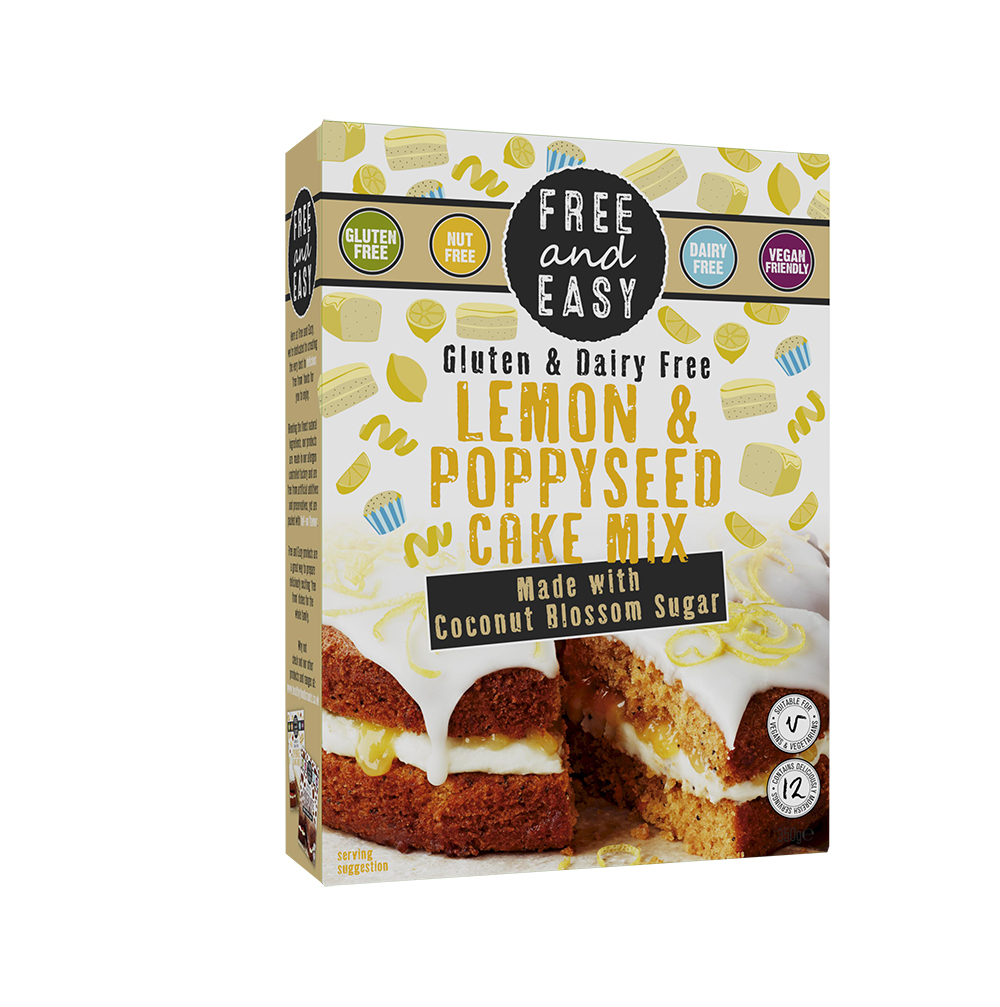 Lemon & Poppyseed Free From cake mix 350g