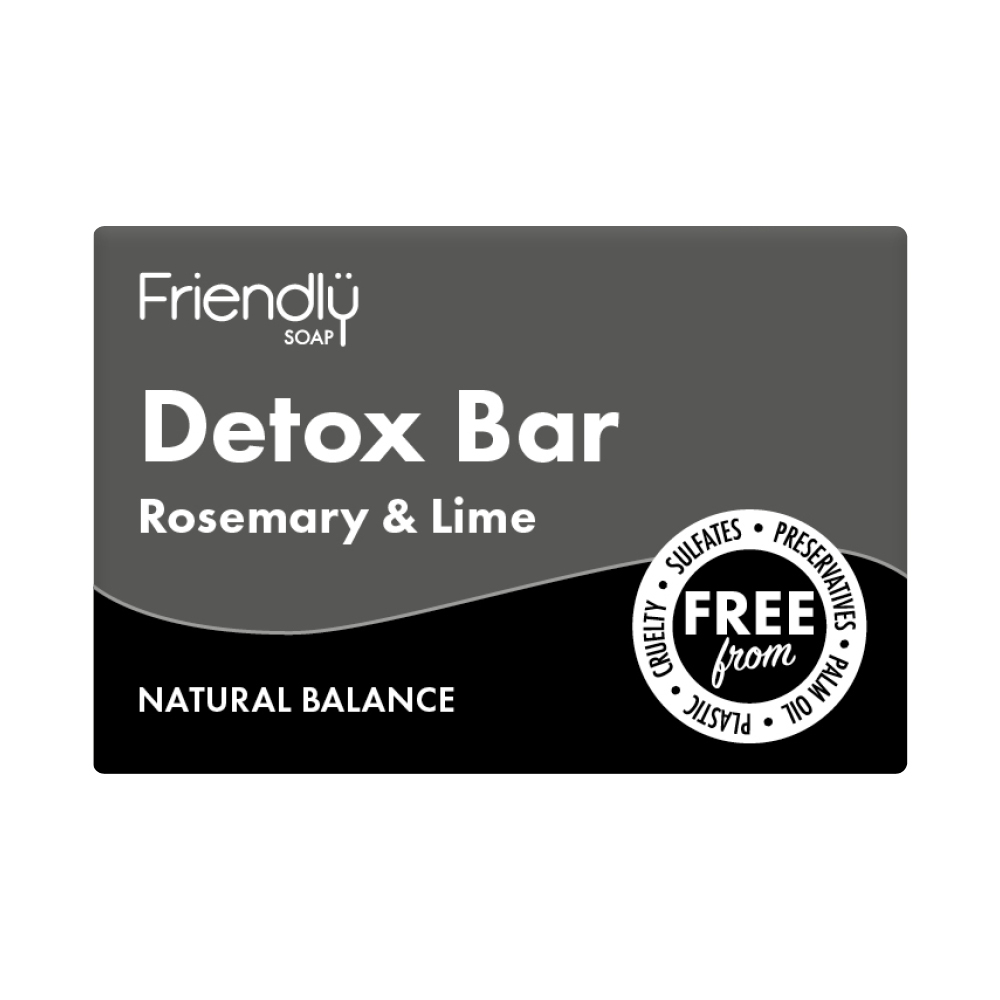 Natural Activated Charcoal Detox Bar 95g