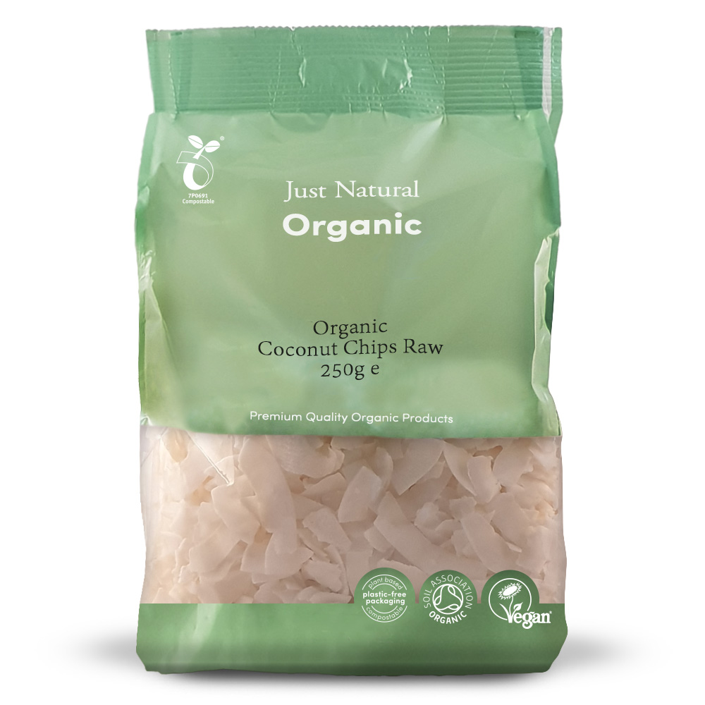 Organic Coconut Chips Raw 250g