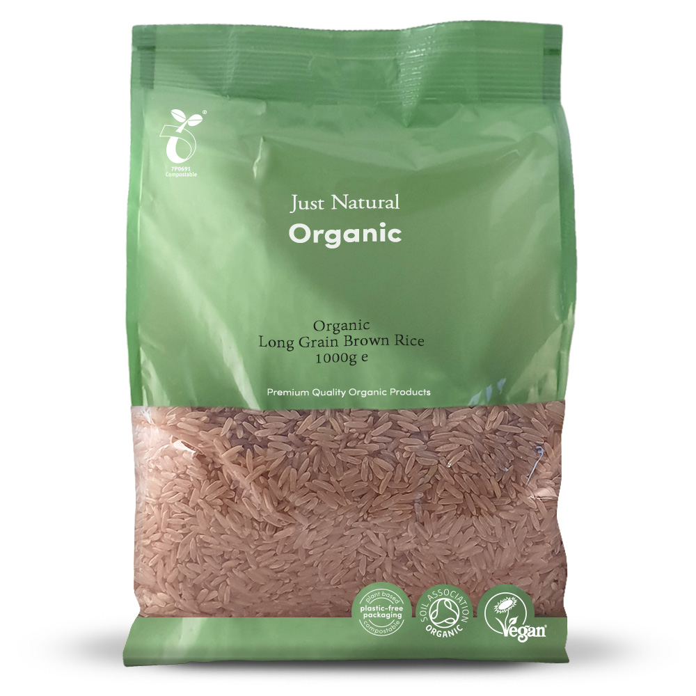 Organic Brown Rice Long Grain 1000g
