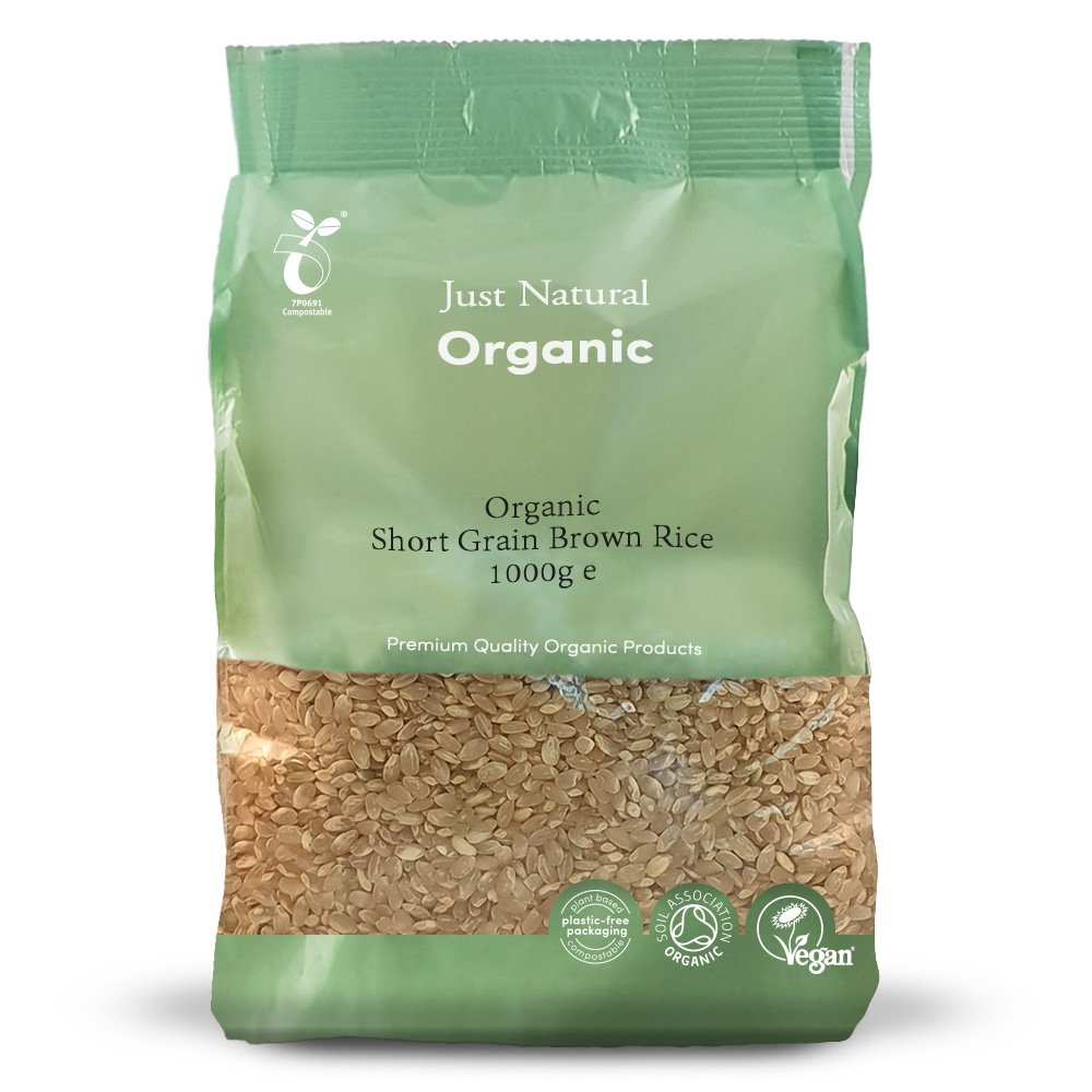 Organic Brown Rice Short Grain 1000g