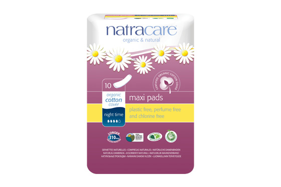 Natracare Night Time Natural Maxi Pads
