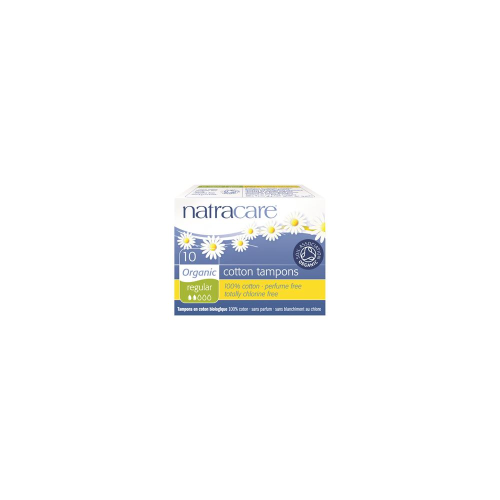 Natracare Regular Non-Applicator Organic Cotton Tampons 10