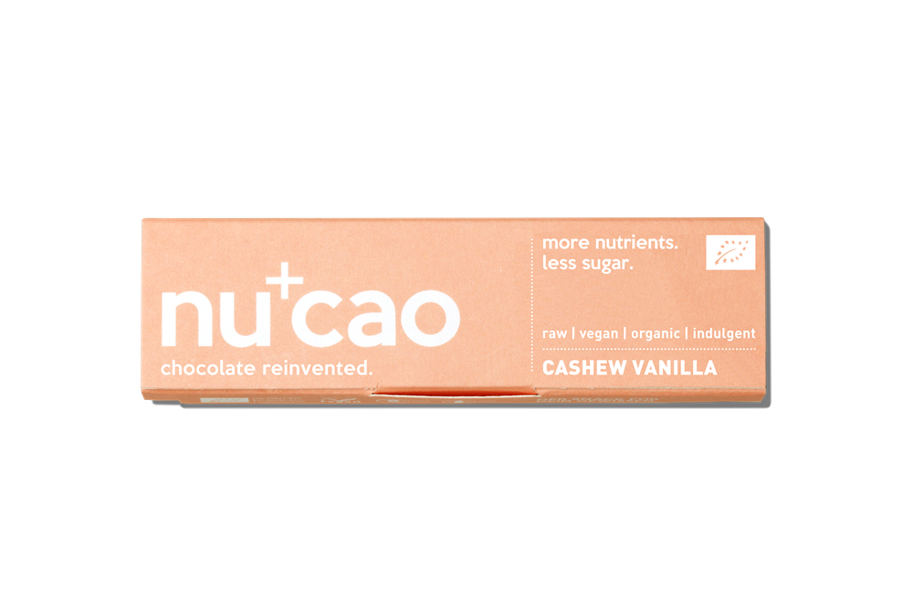 Nucao Cashew Vanilla Chocolate Bar 40g