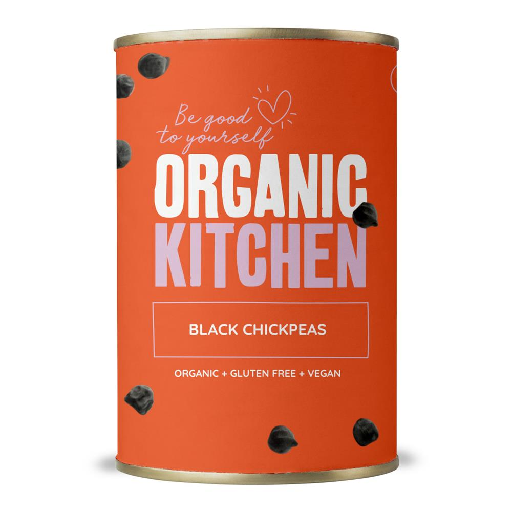 Organic Black Chickpeas Tinned 400g