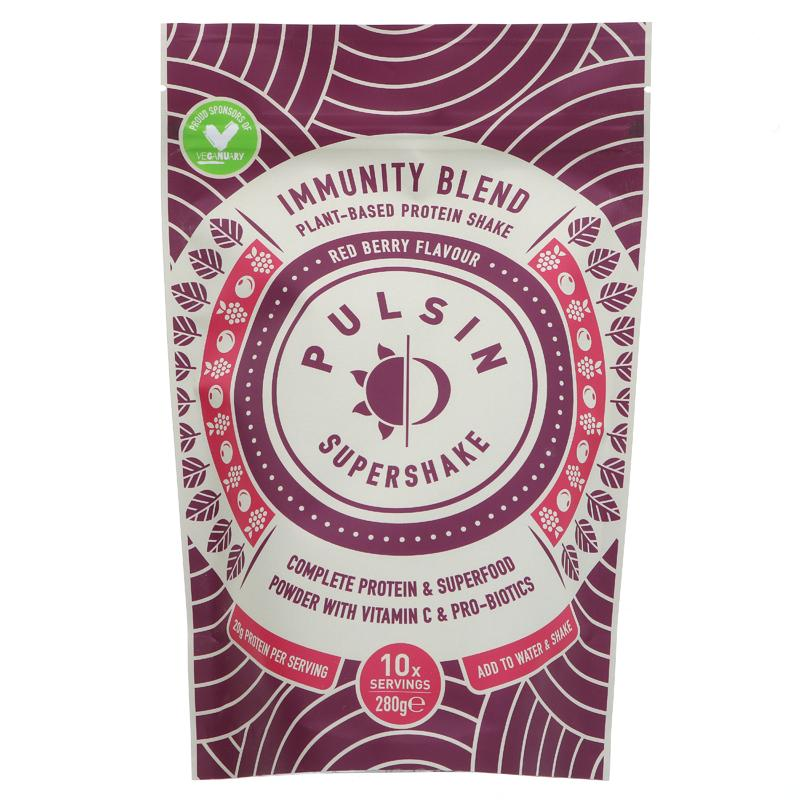 Pulsin Supershake Immunity Red Berry Protein Blend 280g