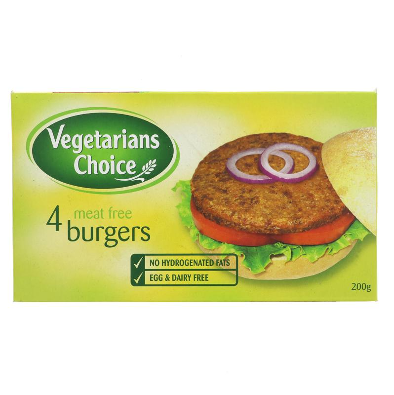 Vegetarians Choice Meat Free Burgers
