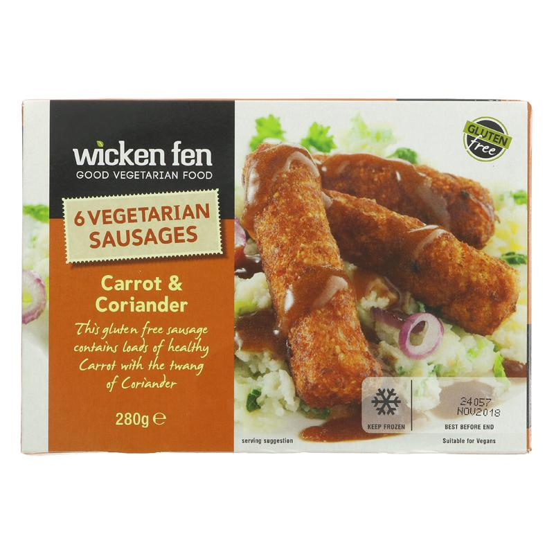 Wicken Fen Carrot & Coriander Sausages