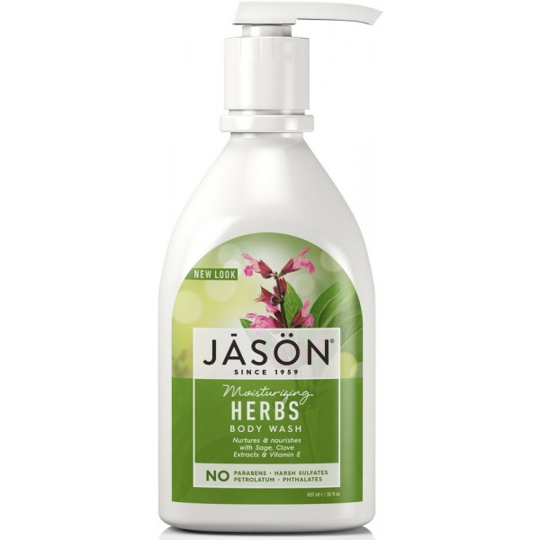 Herb Satin Body Wash W/Pump 887ml