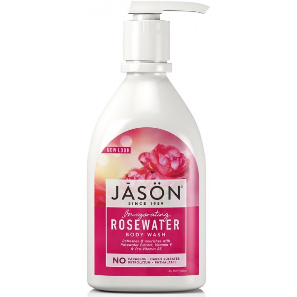 Rosewater Satin Body Wash W/Pump 887ml